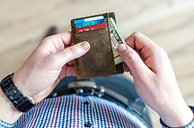 Man holding wallet