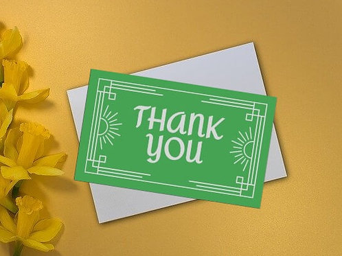 Festive Green Thank You Card