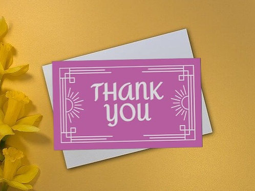 Pink Passion Thank You Card