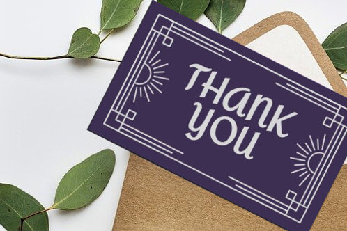 Purple Prep Thank You Card