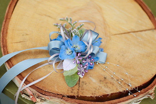 Blue Clarity Corsage