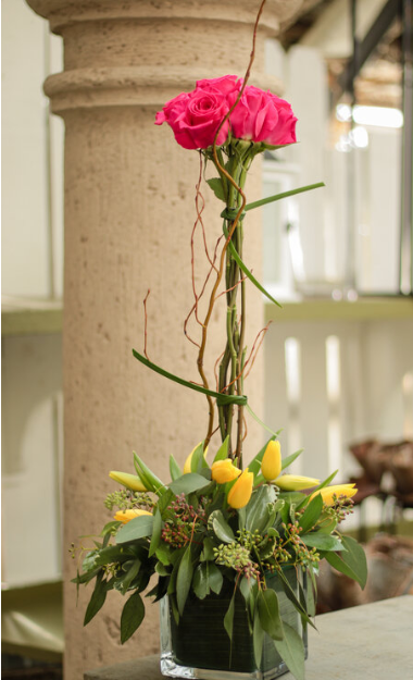 Long Stem Roses and Short Tulips