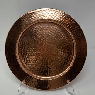HAMMERED COPPER METAL CHARGER - $5/EA