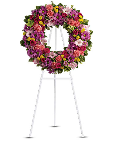 Bright Funeral Wreath