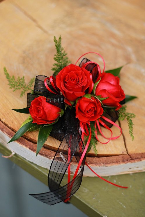 Pure Red Romance Corsage