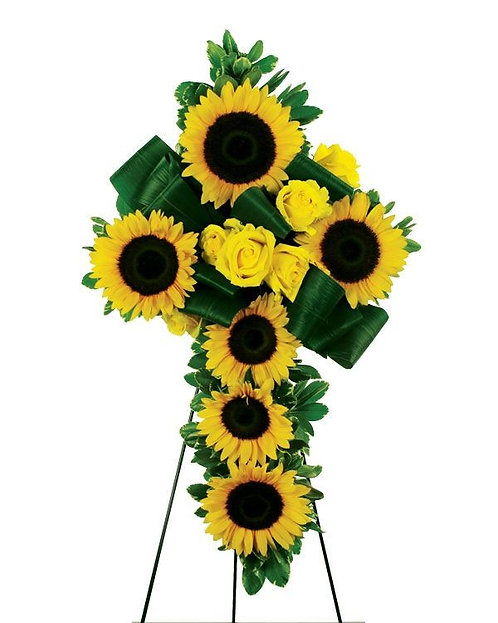 Sympathy Sunflower Cross