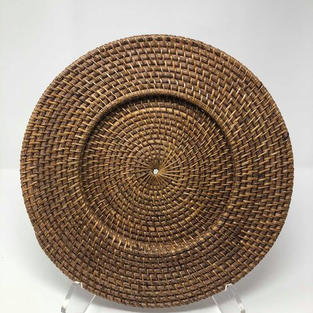 LIGHT WICKER CHARGER - $5/EA