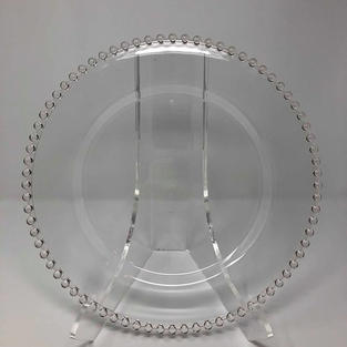 CLEAR BEADED GLASS CHARGER - $5/EA