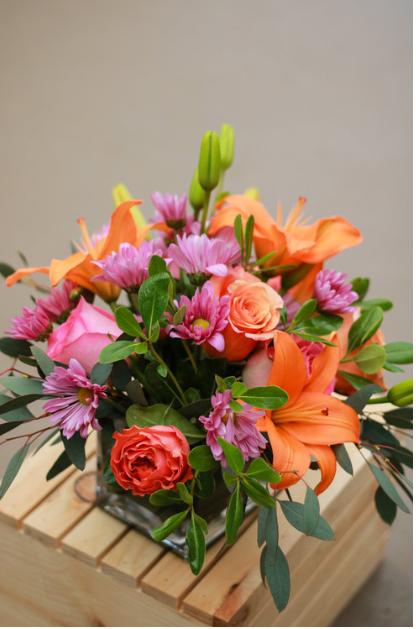 Orange & Pink Arrangement