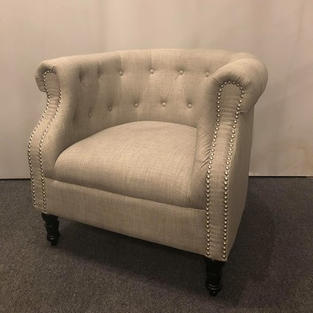 Gray Tufted Chair - $150