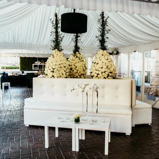 White Armless Sofa - $250