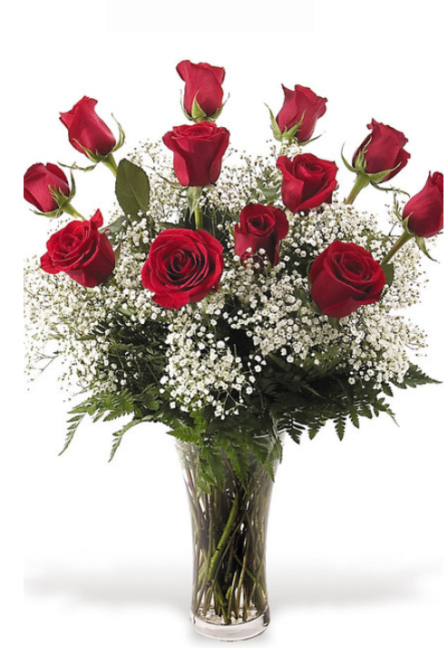Long Stem Roses with Fillers