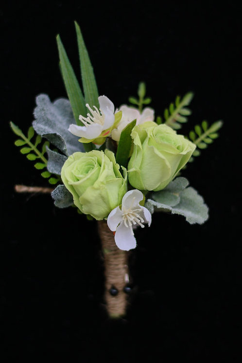 Green Forever Boutonniere