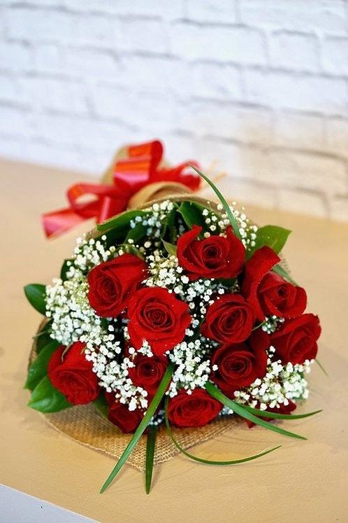 Dozen Wrapped Roses