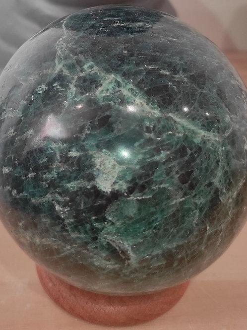 Sphère apatite bleue