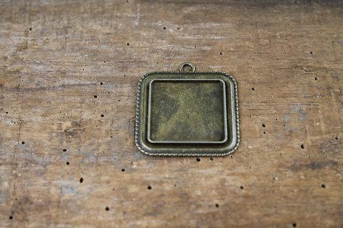 Support cabochon carré Bronze antique