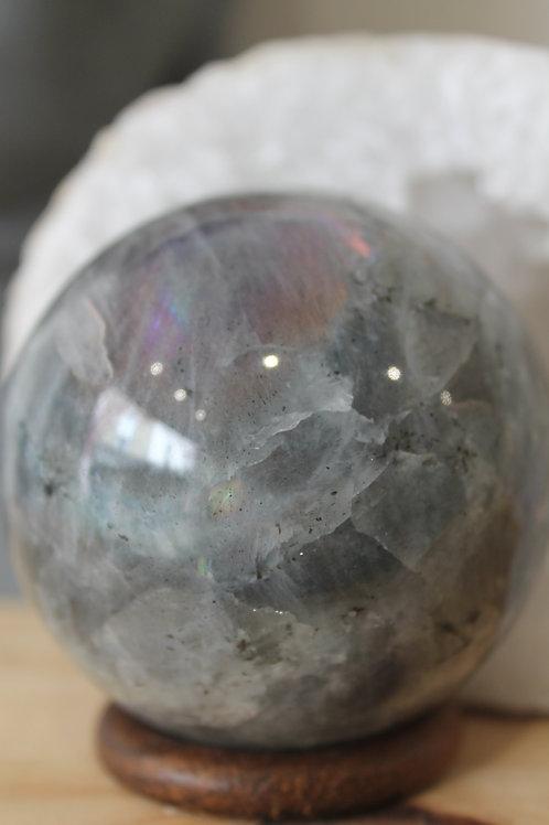 Sphère labradorite Violette