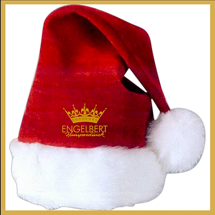 Velvet Santa Hat  -  Set of 2