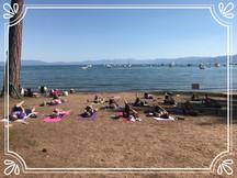 Beach Yoga at Camp Richardson Marina and Resort