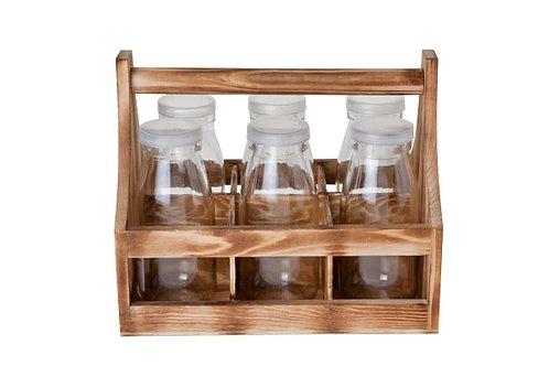Support bois 6 bouteilles