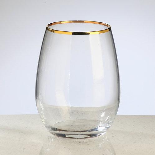 6 verres AMBER GOLD