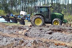 Travaux forestiers dans les Landes