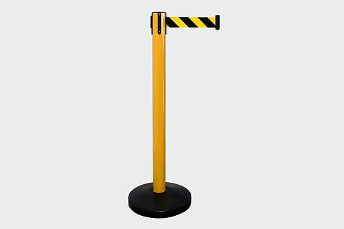 Barreira de Delimitação Amarela com 1 Fita Amarela/Preta