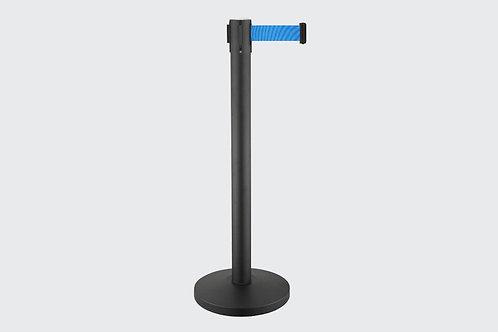 Barreira de Delimitação Preta com 1 Fita Azul