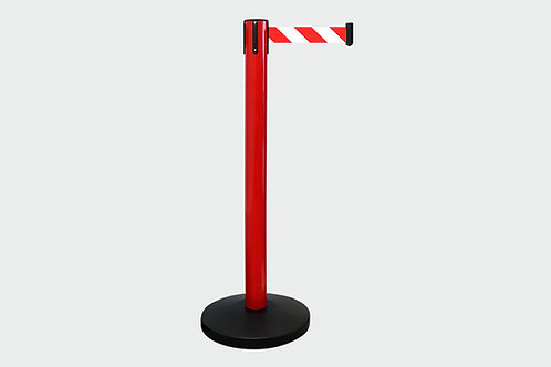 Barreira de Delimitação Vermelha com 1 Fita Vermelha/Branca