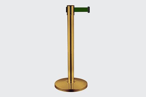 Barreira de Delimitação Dourada com 1 Fita Verde
