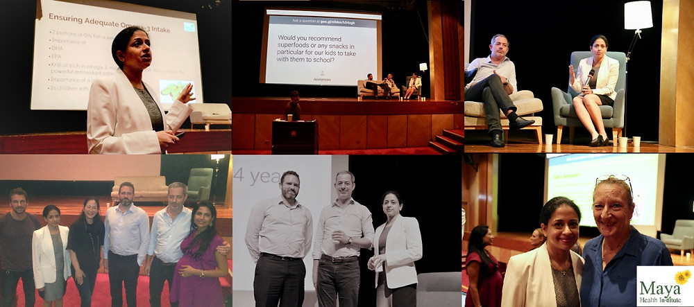 Images from the Think Well, Feel Well, Be Well panel, Dr Damien Mouellic Osteopath panelist