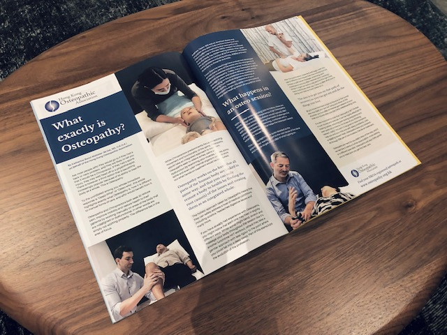 Osteopathy article in Liv Magazine by the Hong Kong Osteopathic Association