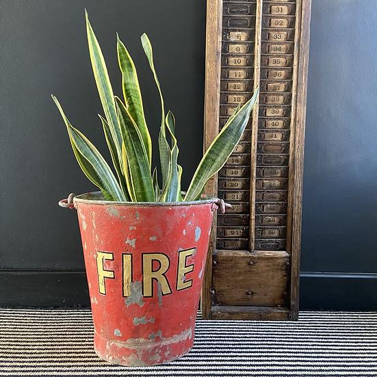 Stunning Vintage Riveted Fire Bucket