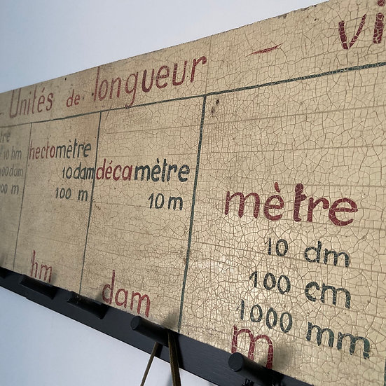 Vintage French Teaching Board
