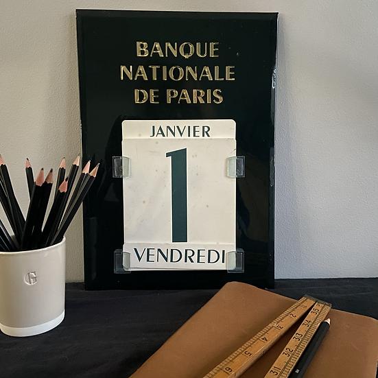 Vintage Banque Nationale De Paris Perpetual Calendar