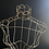 Thumbnail: Vintage French Wire Mannequin Bust on Stand