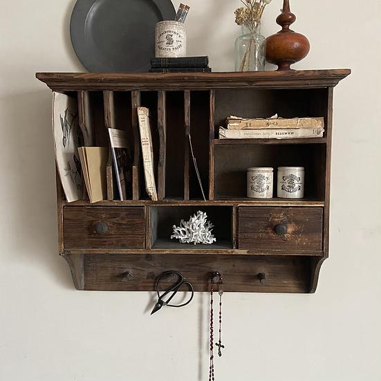 Vintage French Display Shelf/Letter/Book Rack