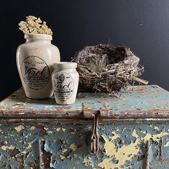 Set of Two Vintage Stoneware Jars