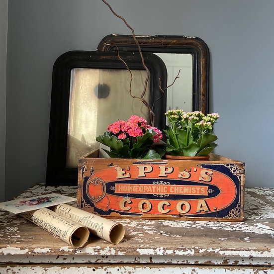 Epps's Vintage Advertising Crate