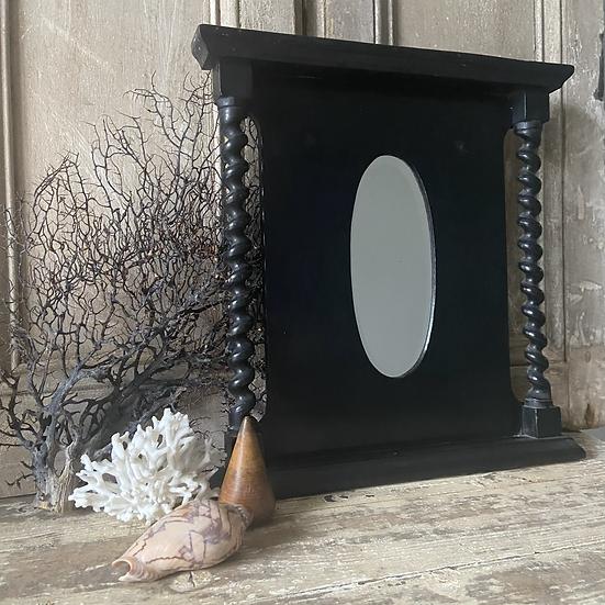 Small Victorian Ebonised Decorative Mirror