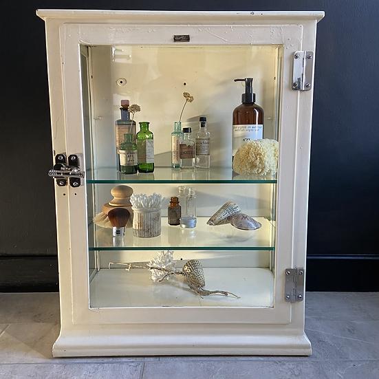 Large Vintage Metal and Glass Shop Display Cabinet