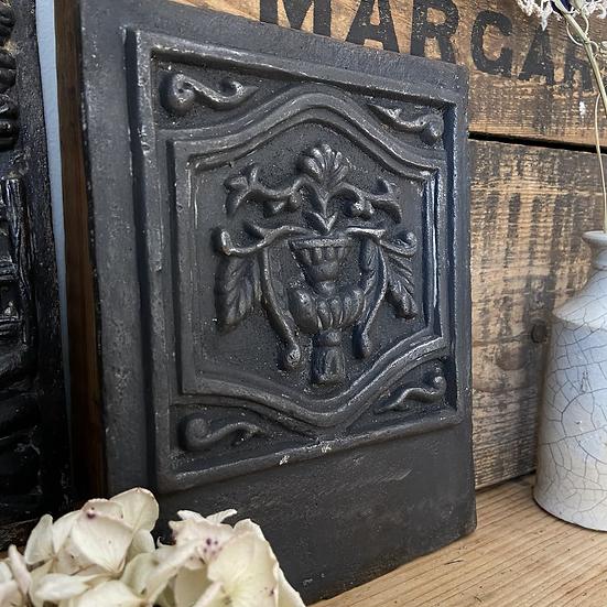 Decorative Victorian Antique Cast Iron Panel in Relief