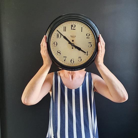 Vintage Smiths Industrial Bakelite Clock