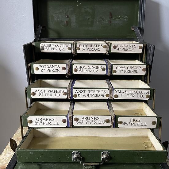 A Rare 1930's Chocolate Salesman's Sample Case