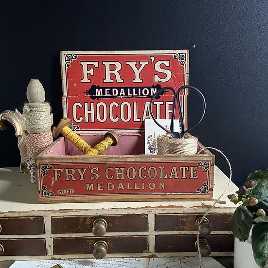 A Genuine Vintage Fry's Chocolate Display Box