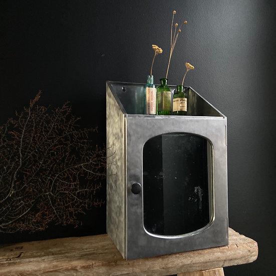Gorgeous Vintage Metal Mirrored Bathroom Cabinet