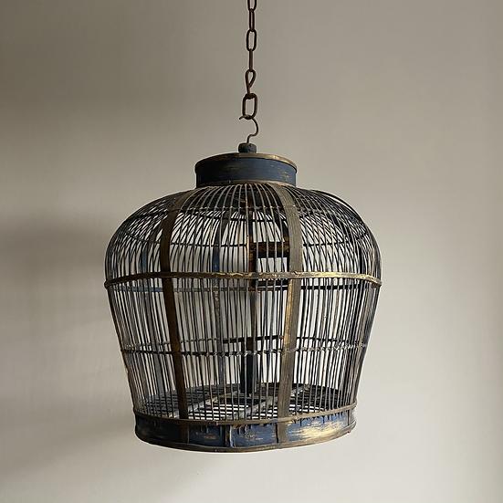 Fabulous Extra Large Handmade Vintage Bamboo Birdcage
