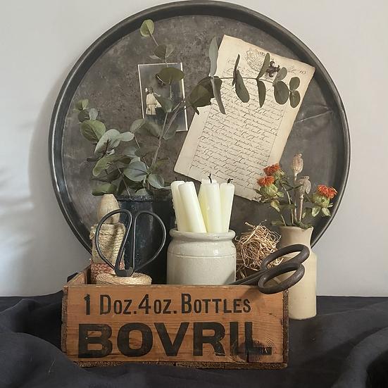 Rustic Vintage Bovril Crate