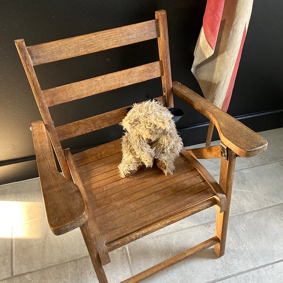 Childs Vintage Folding Armchair