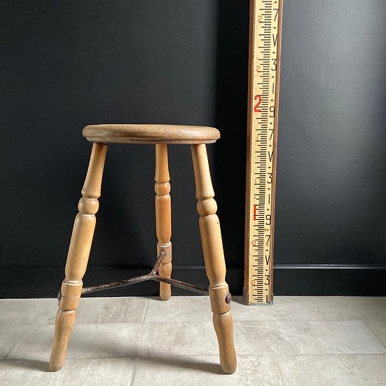 Rare Antique Lacemakers Stool